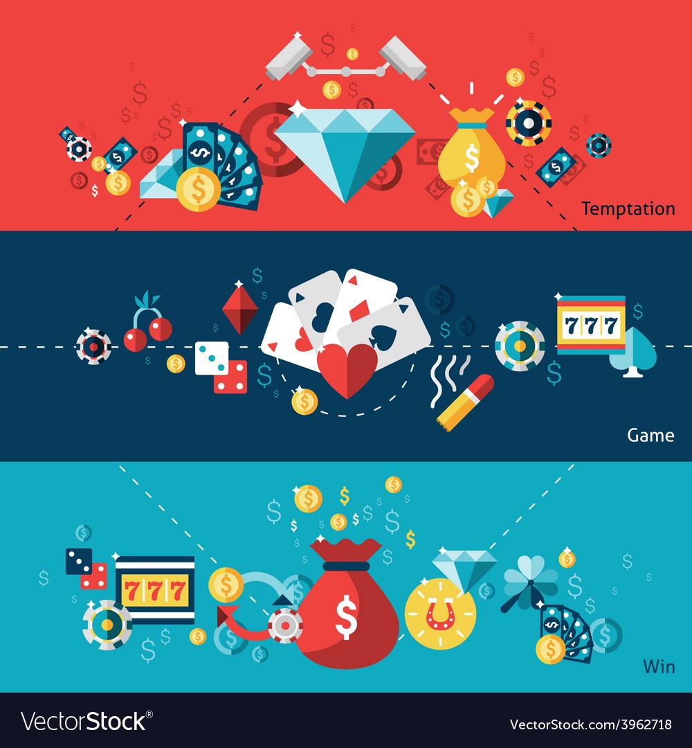 Casino banner set vector | Price: 1 Credit (USD $1)