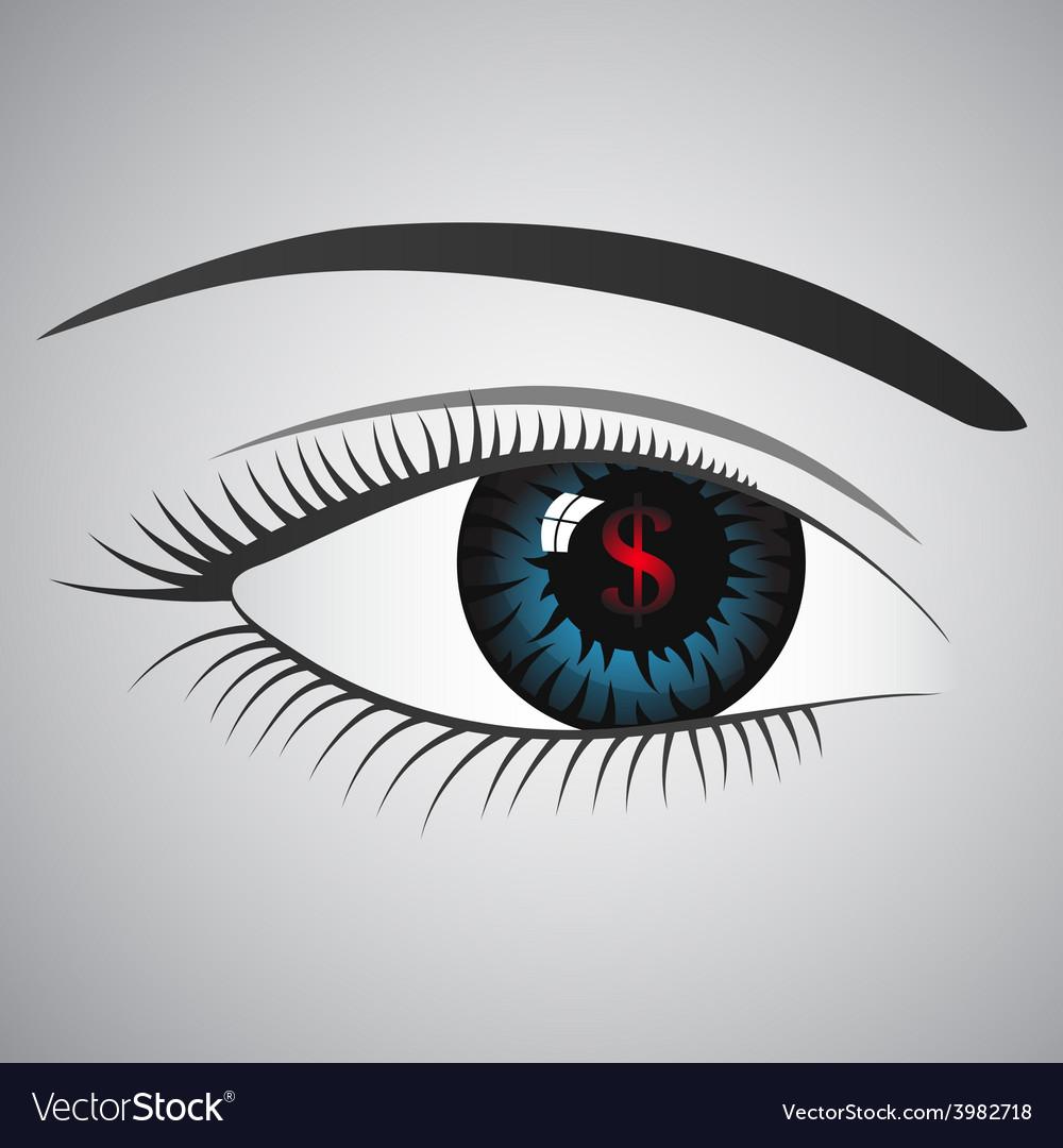 Dollars eye vector   Price: 1 Credit (USD $1)