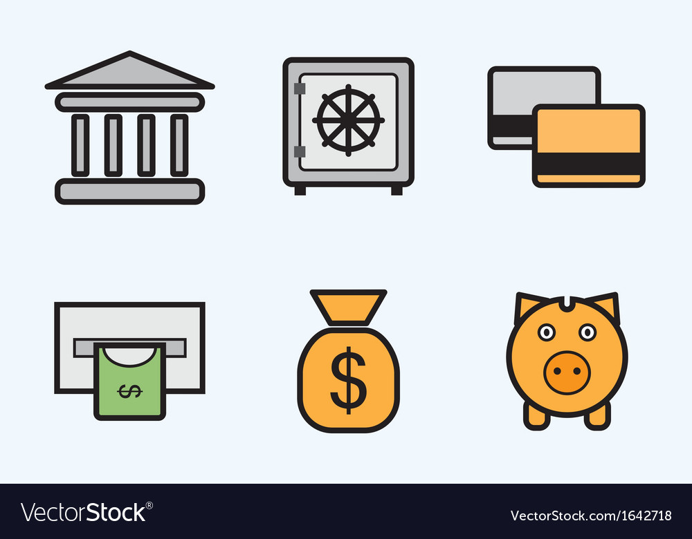 Finance and bank icons - icon set vector | Price: 1 Credit (USD $1)