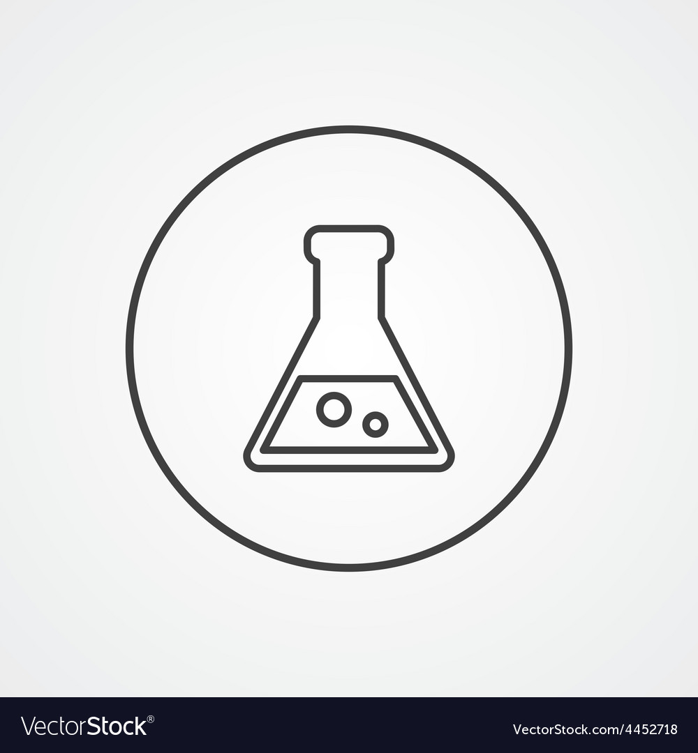 Laboratory outline symbol dark on white background vector | Price: 1 Credit (USD $1)