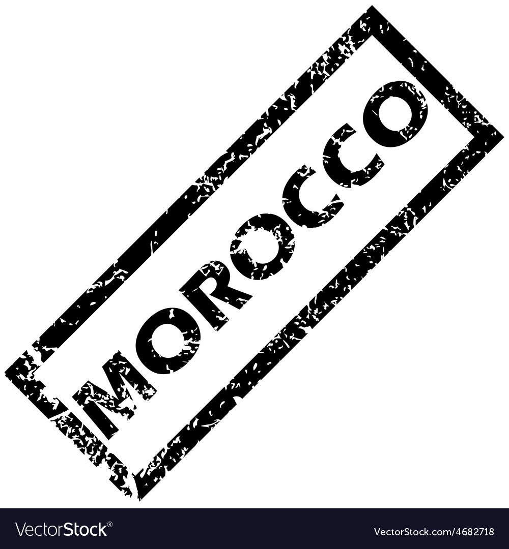 Morocco rubber stamp vector | Price: 1 Credit (USD $1)