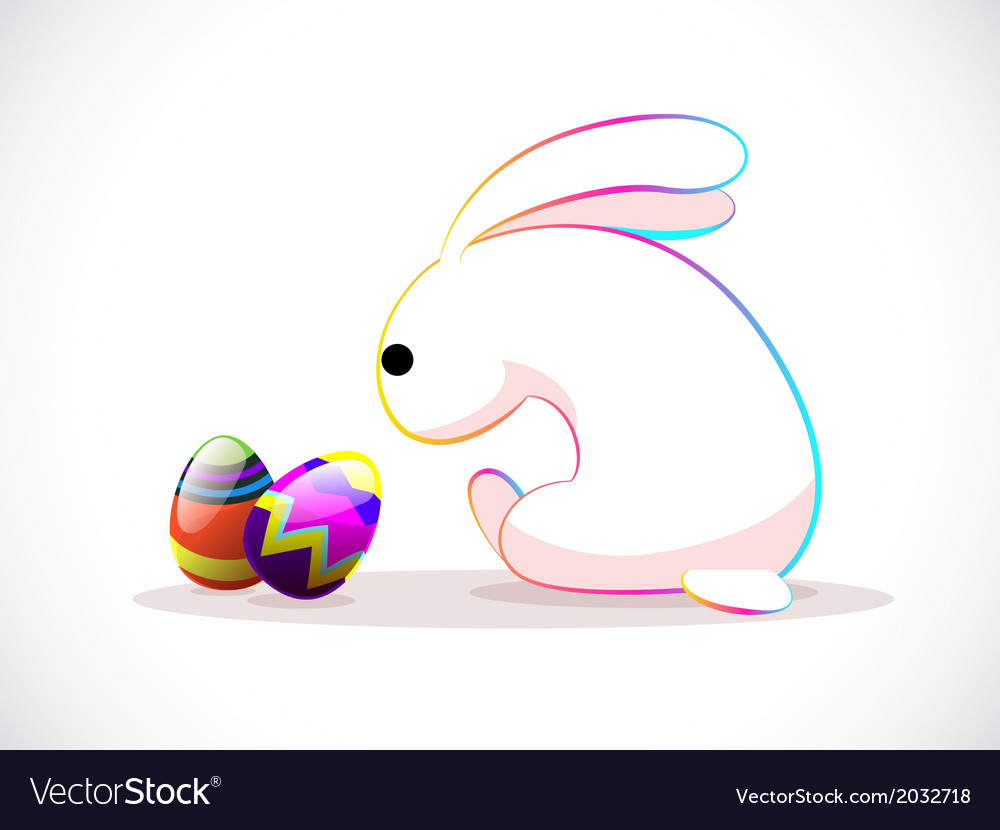 Rabbit easter vector | Price: 1 Credit (USD $1)