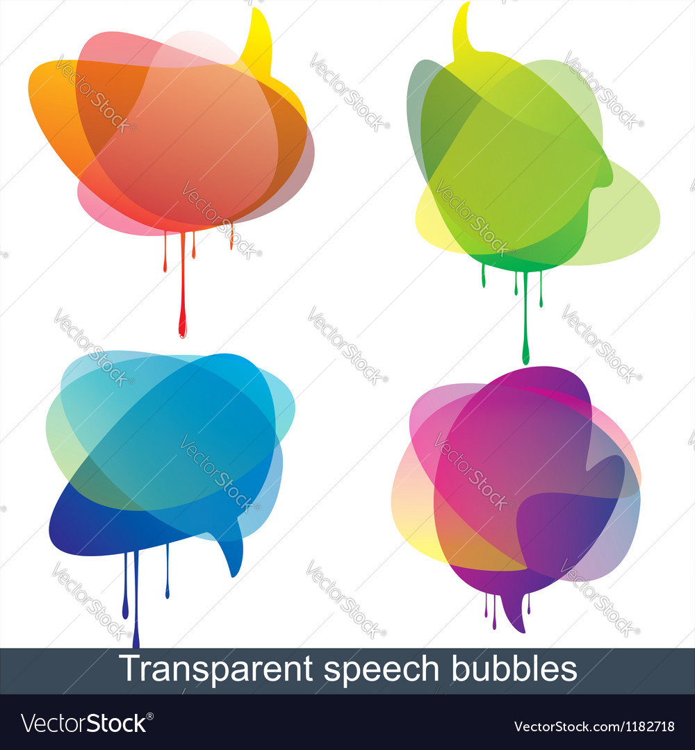 Speech and thought bubbles vector | Price: 1 Credit (USD $1)