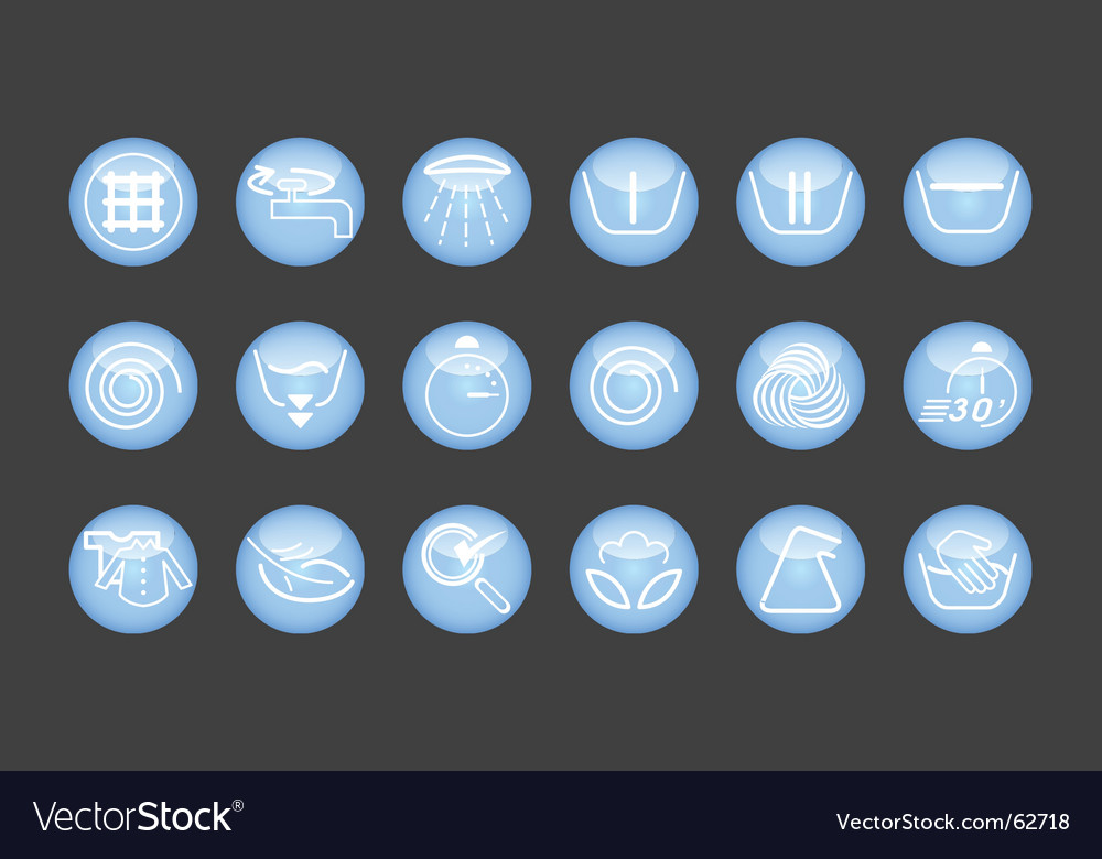 Washing machine icons vector | Price: 1 Credit (USD $1)