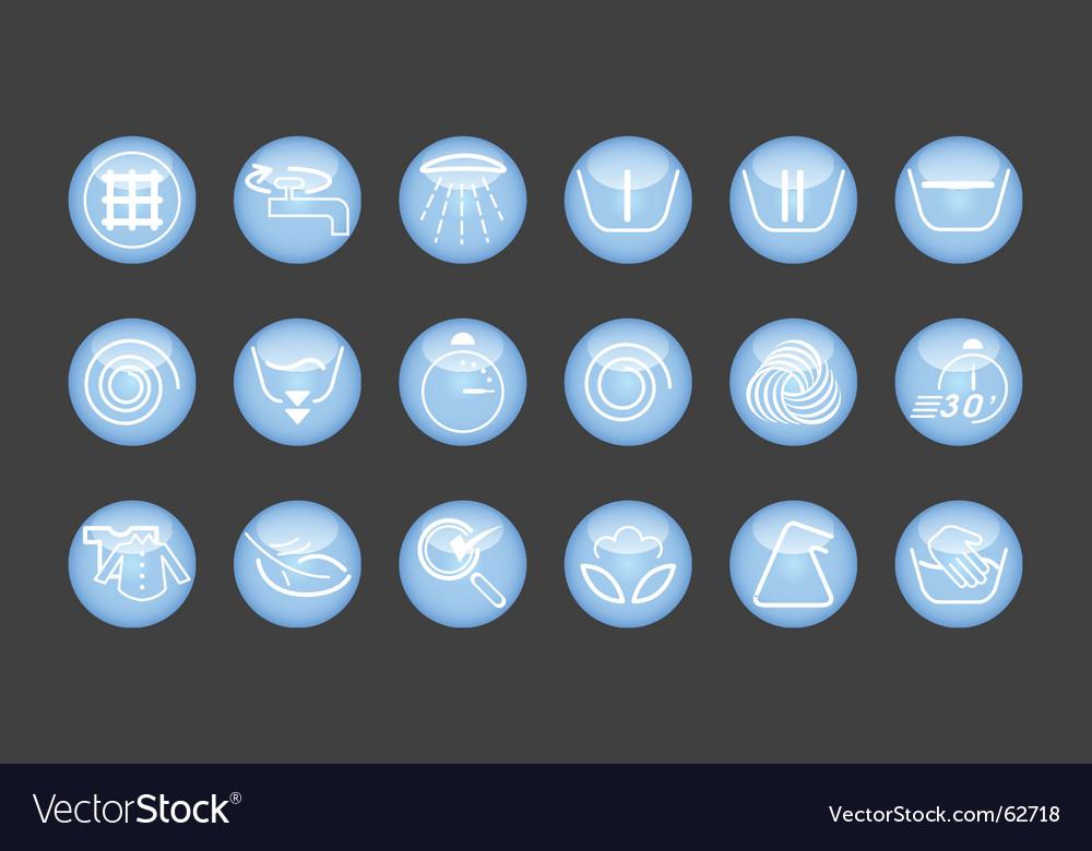 Washing machine icons vector | Price: 1 Credit (USD $1)