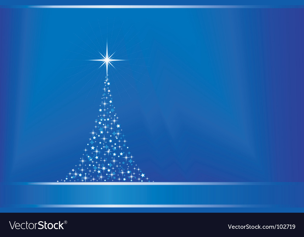 Abstract blue background with christma vector | Price: 1 Credit (USD $1)