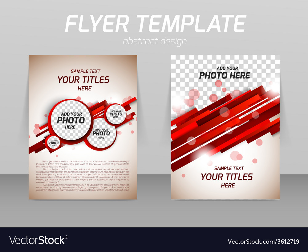Abstract flyer template design vector | Price: 1 Credit (USD $1)