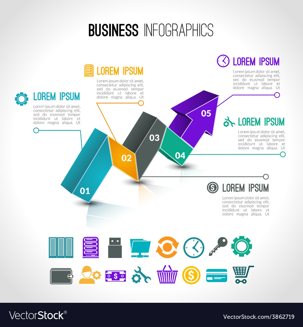 Business charts infographic vector | Price: 1 Credit (USD $1)