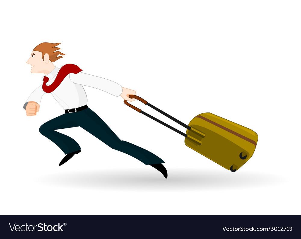 Businessman in a hurry vector   Price: 1 Credit (USD $1)