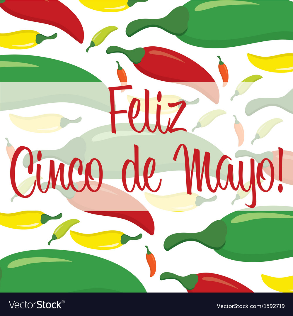 Cinco de mayo card vector | Price: 1 Credit (USD $1)