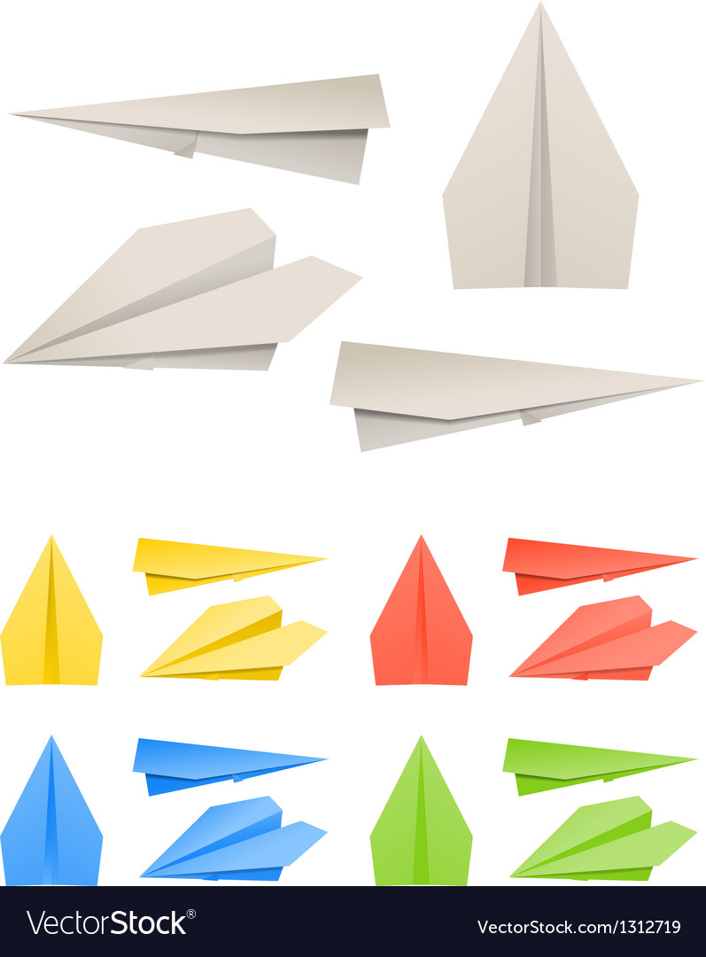 Colorful paper models of planes vector | Price: 1 Credit (USD $1)