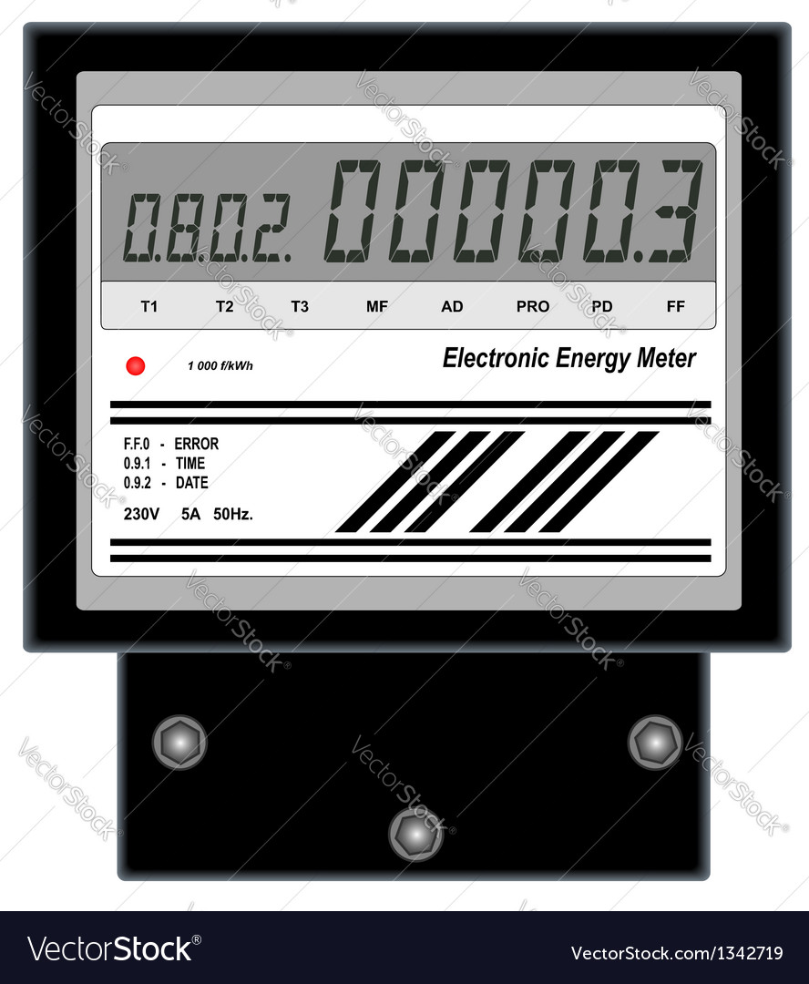 Electronic energy meter vector | Price: 1 Credit (USD $1)