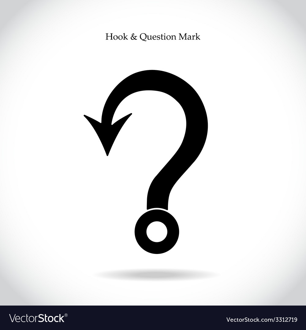 Fishing hook question mark sign vector | Price: 1 Credit (USD $1)