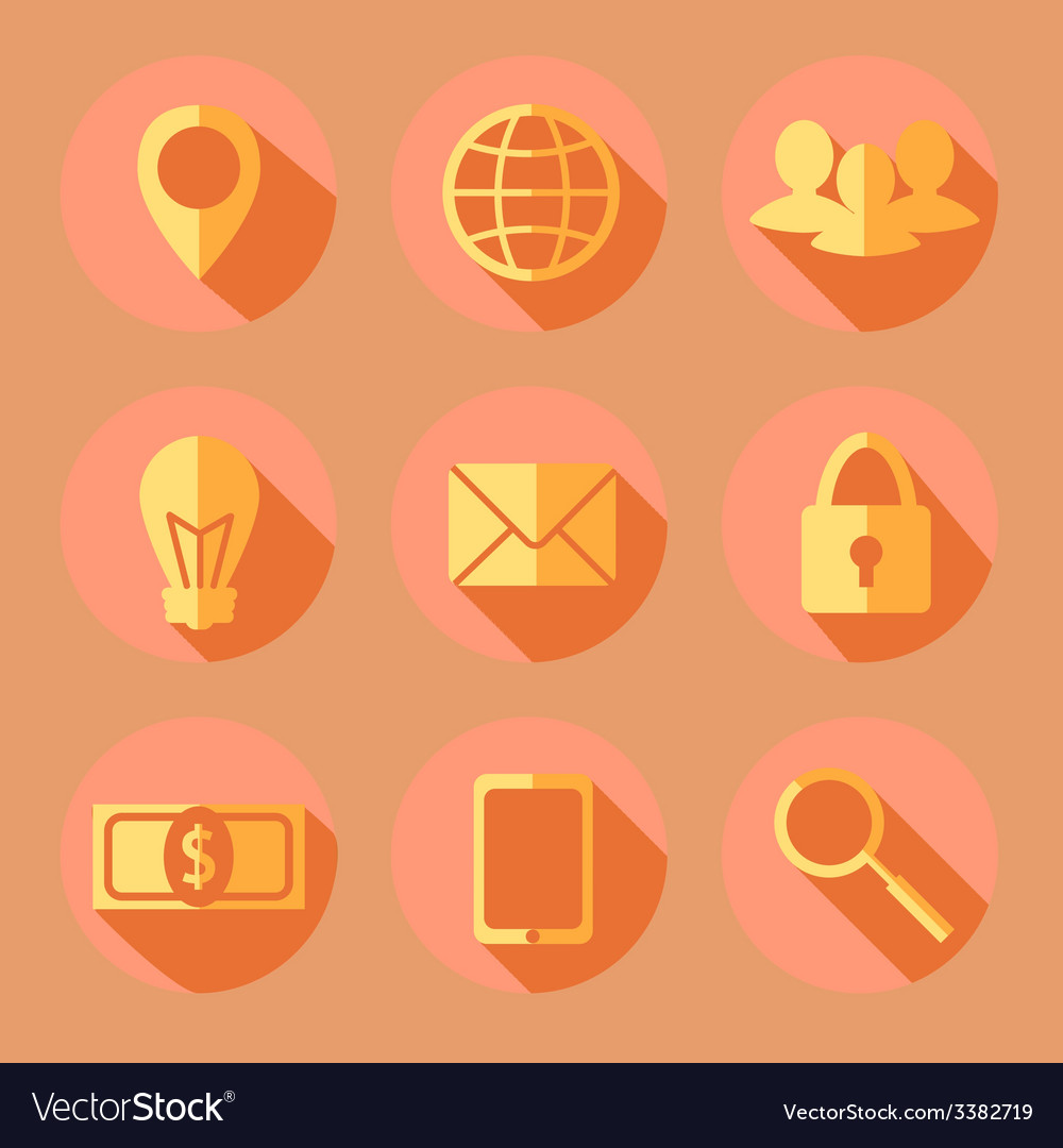 Flat business icons vector   Price: 1 Credit (USD $1)