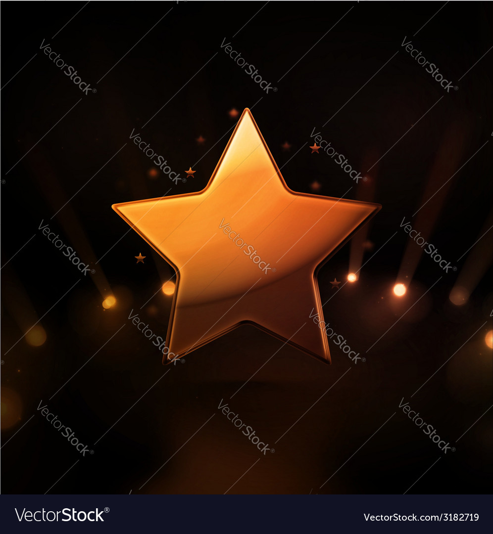 Gold star vector | Price: 1 Credit (USD $1)