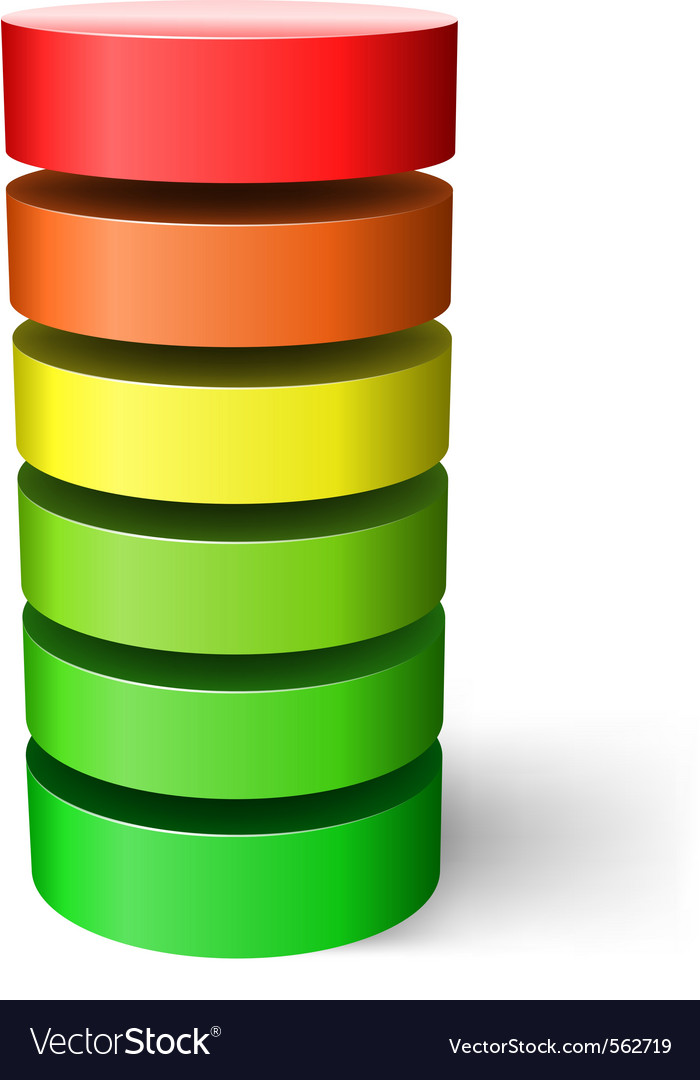 Layered cylinder vector | Price: 1 Credit (USD $1)