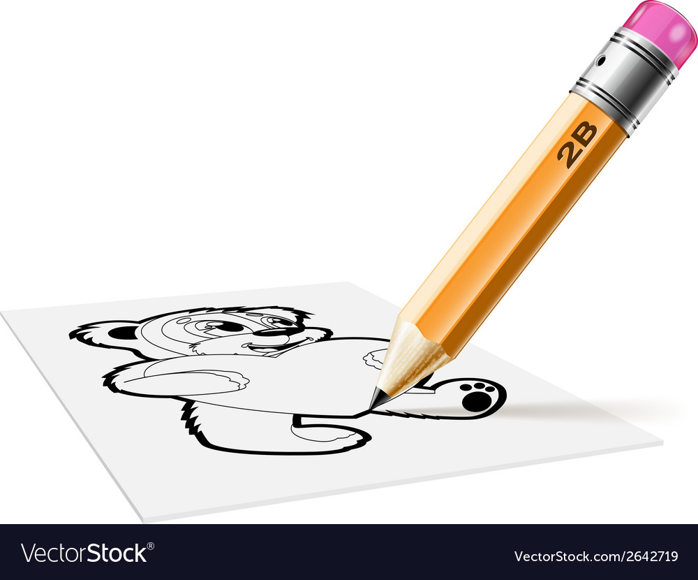 Pensil hb bear vector | Price: 1 Credit (USD $1)