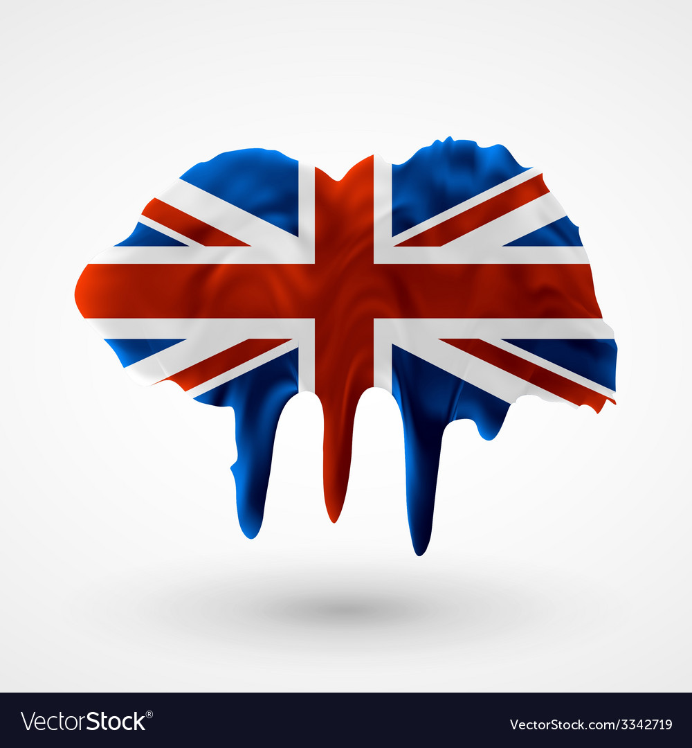 Uk flag painted colors vector | Price: 1 Credit (USD $1)