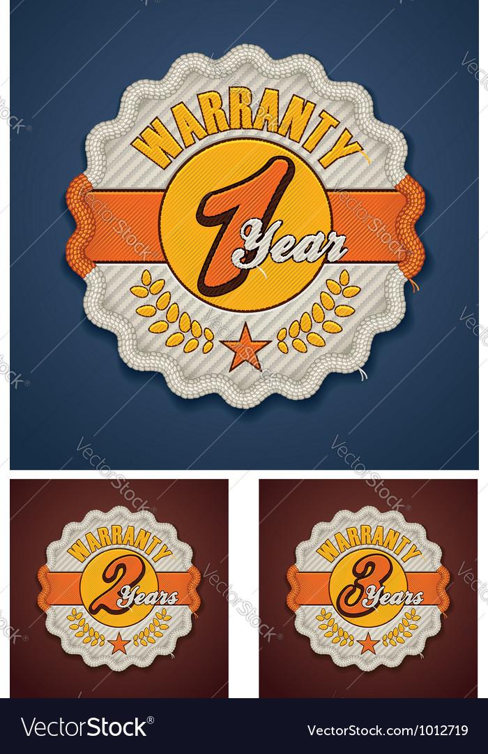 Warranty term fabric badge vector | Price: 3 Credit (USD $3)