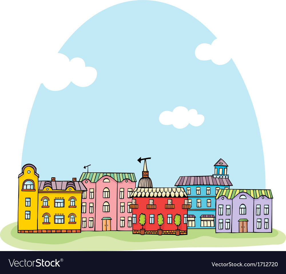 City view vector | Price: 1 Credit (USD $1)