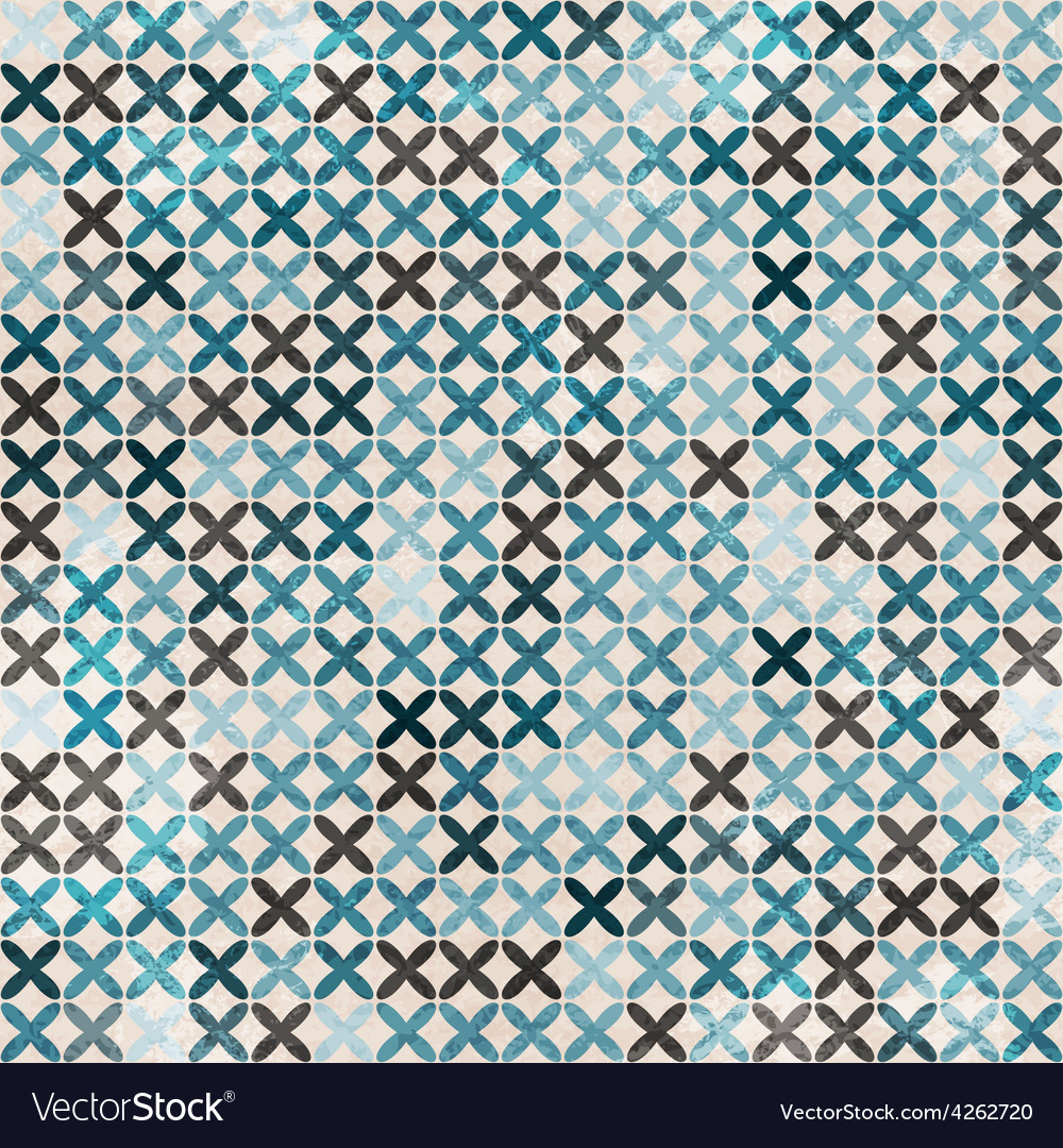 Cloth blue seamless pattern vector | Price: 1 Credit (USD $1)
