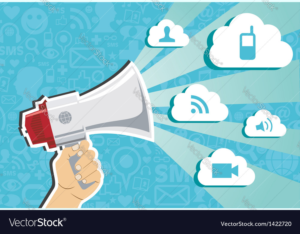 Cloud computing marketing concept vector | Price: 1 Credit (USD $1)