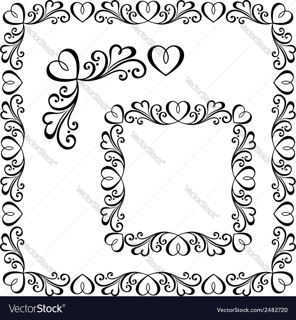 Decorative ornate frame vector | Price: 1 Credit (USD $1)