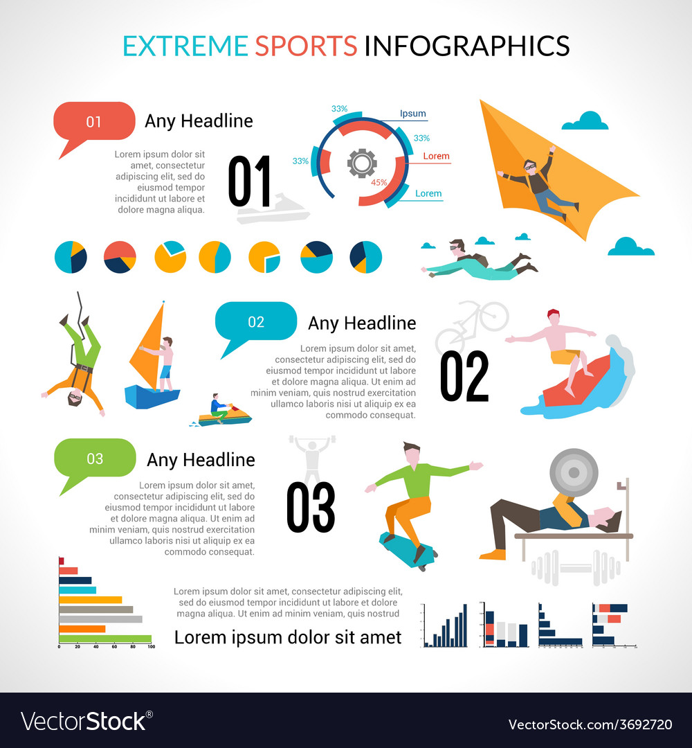 Extreme sports infographics vector | Price: 1 Credit (USD $1)