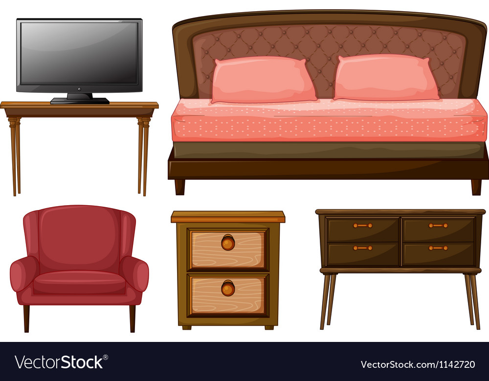 Home furnitures and television vector | Price: 1 Credit (USD $1)