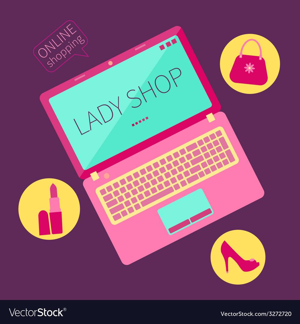 Lady shop vector | Price: 1 Credit (USD $1)
