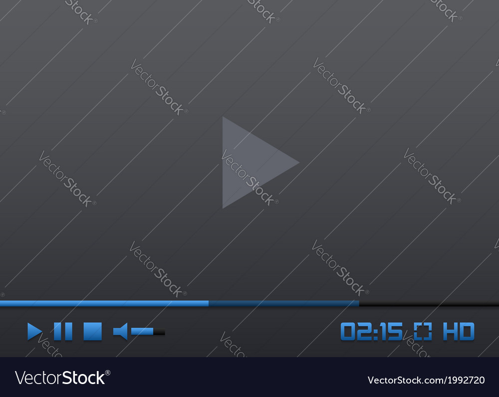 Media player interface vector | Price: 1 Credit (USD $1)