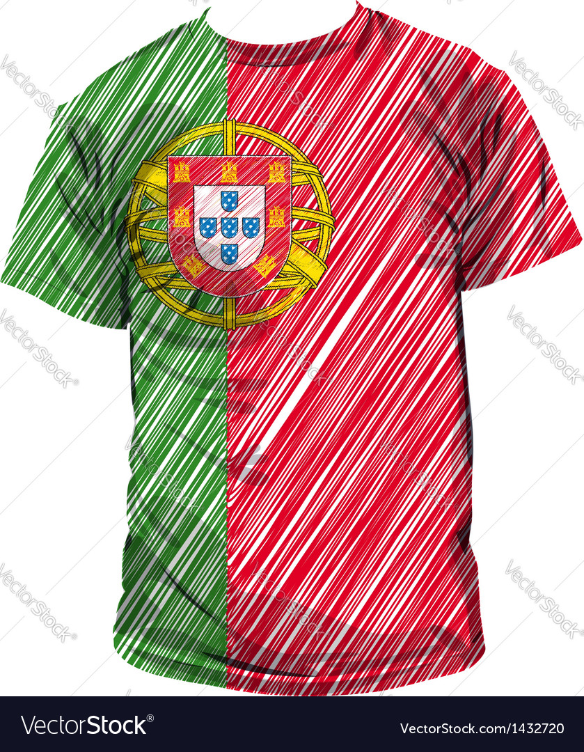 Portugal tee vector | Price: 1 Credit (USD $1)