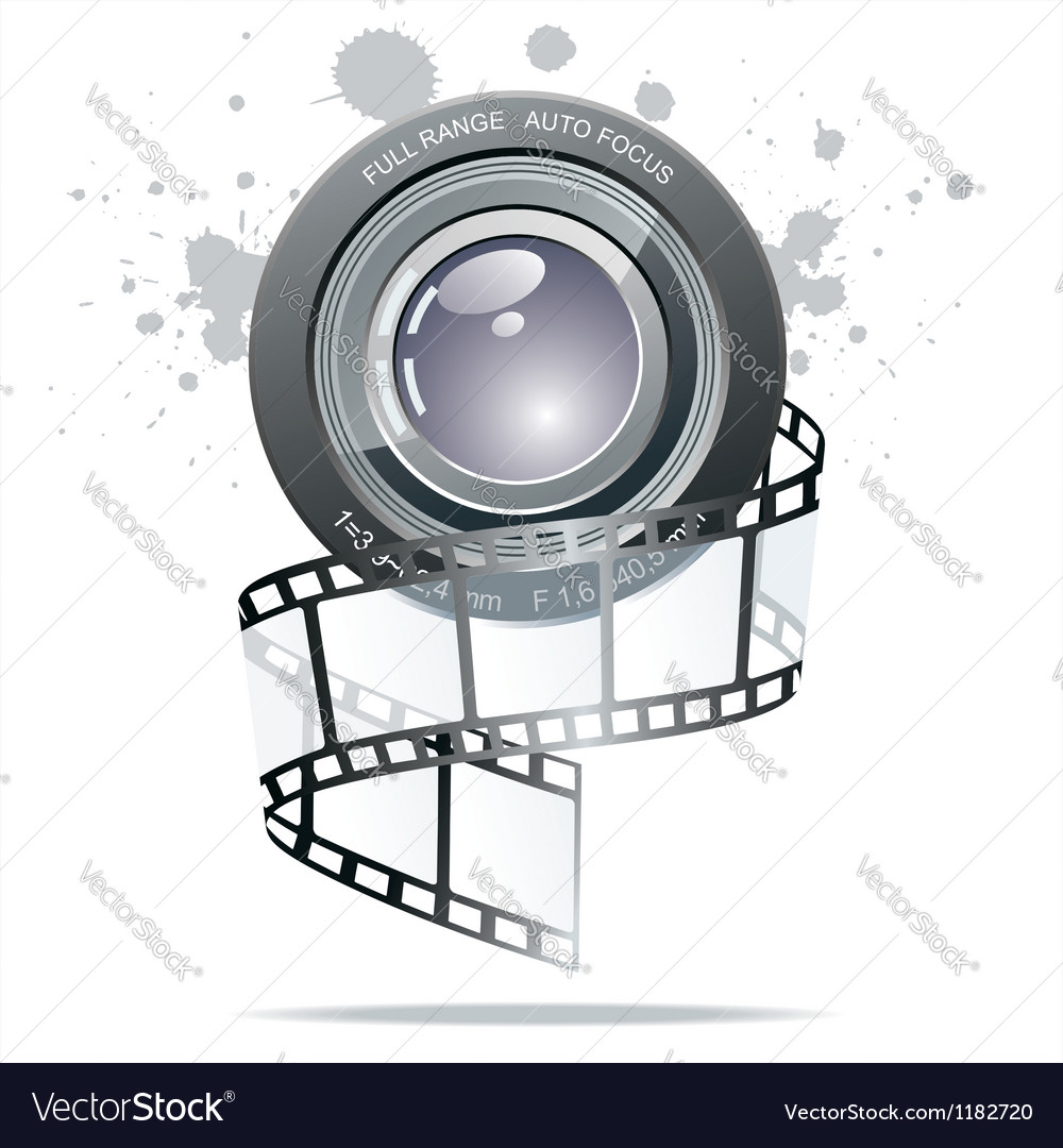 Realistic 3d film reel vector | Price: 3 Credit (USD $3)