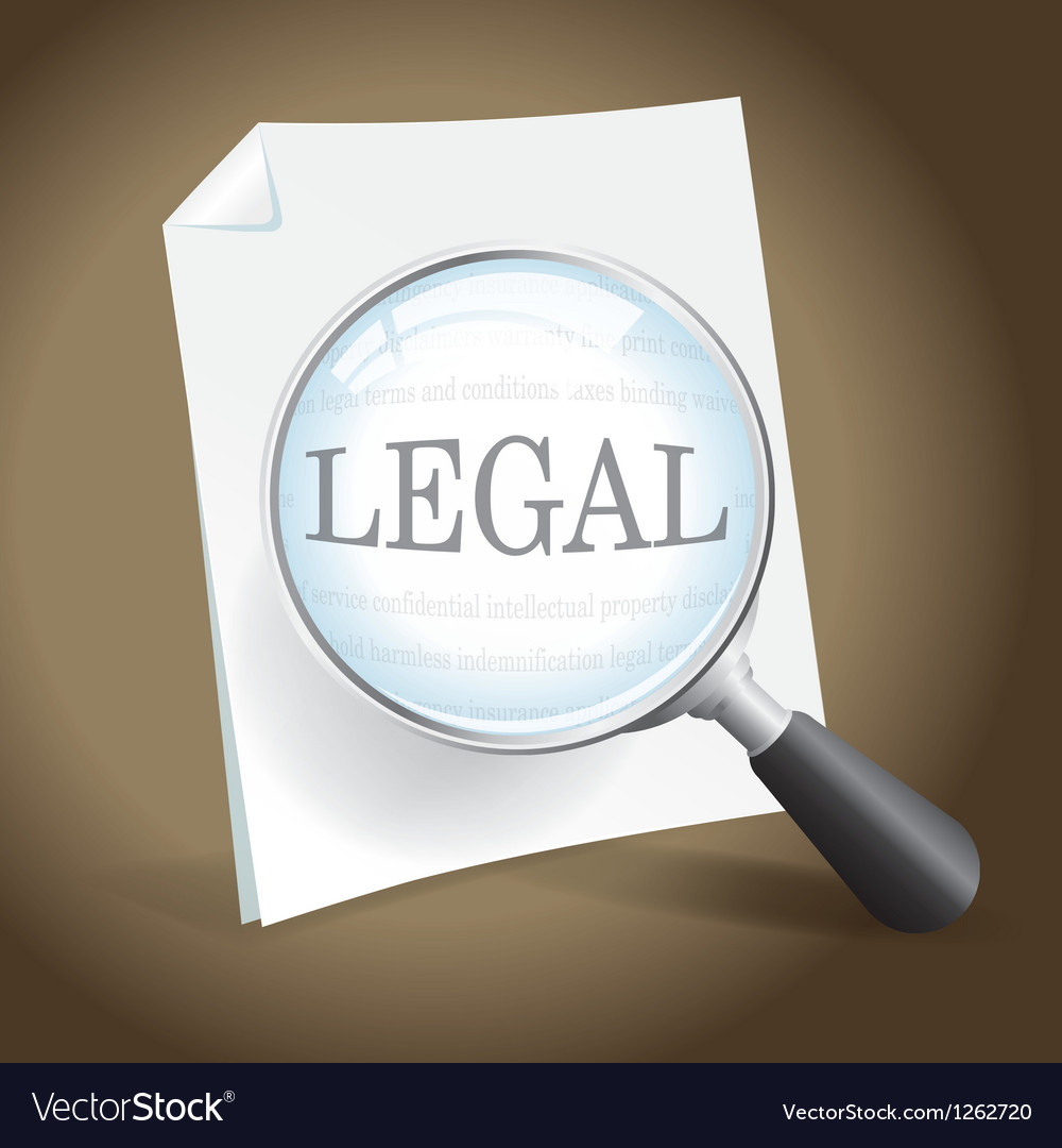 Reviewing a legal document vector | Price: 1 Credit (USD $1)