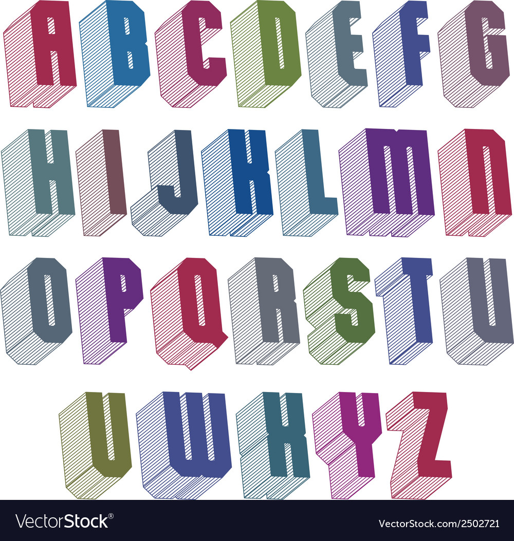 3d font with good style simple shaped geometric vector | Price: 1 Credit (USD $1)