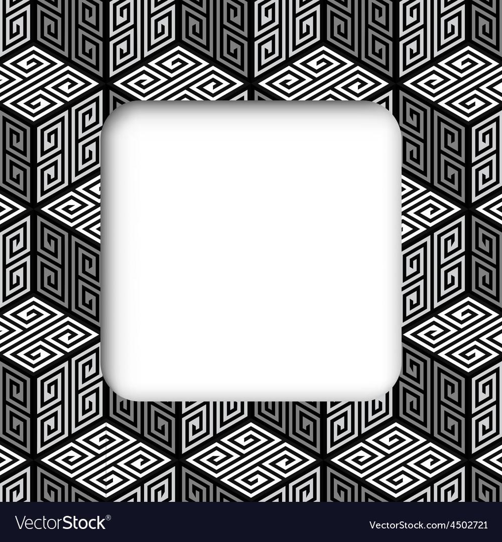 3d zig zag cubes frame banner vector | Price: 1 Credit (USD $1)