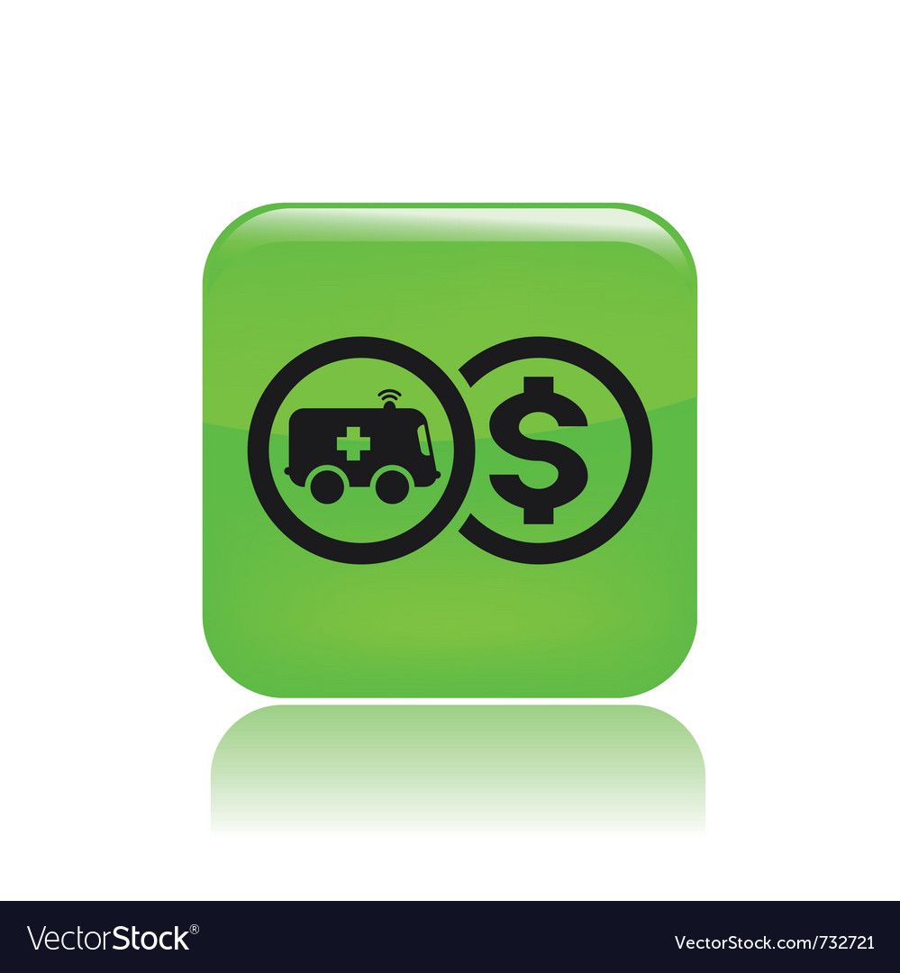 Ambulance cost icon vector | Price: 1 Credit (USD $1)
