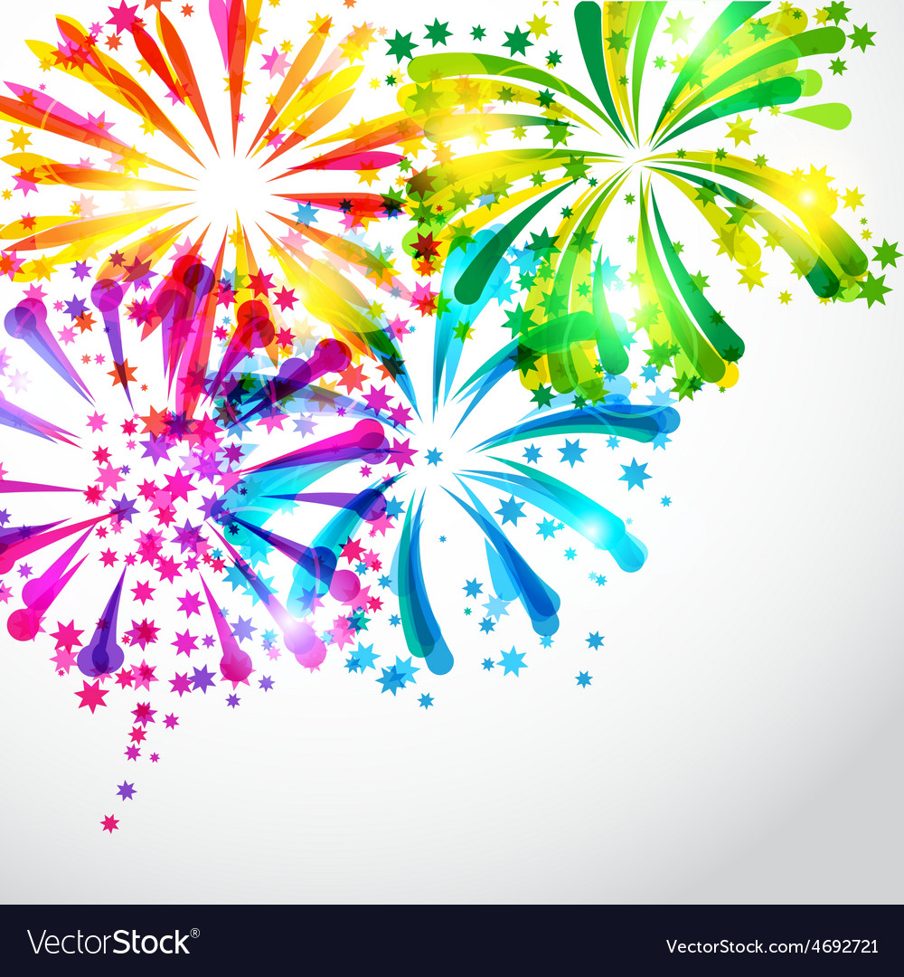 Background with bright colorful fireworks and vector | Price: 1 Credit (USD $1)