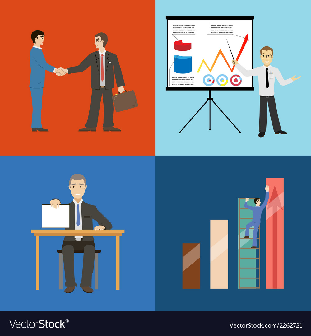 Business partnership agreement conclusion vector | Price: 1 Credit (USD $1)