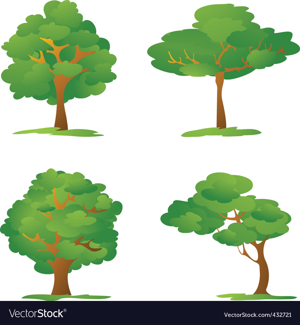 Cartoon trees vector | Price: 1 Credit (USD $1)