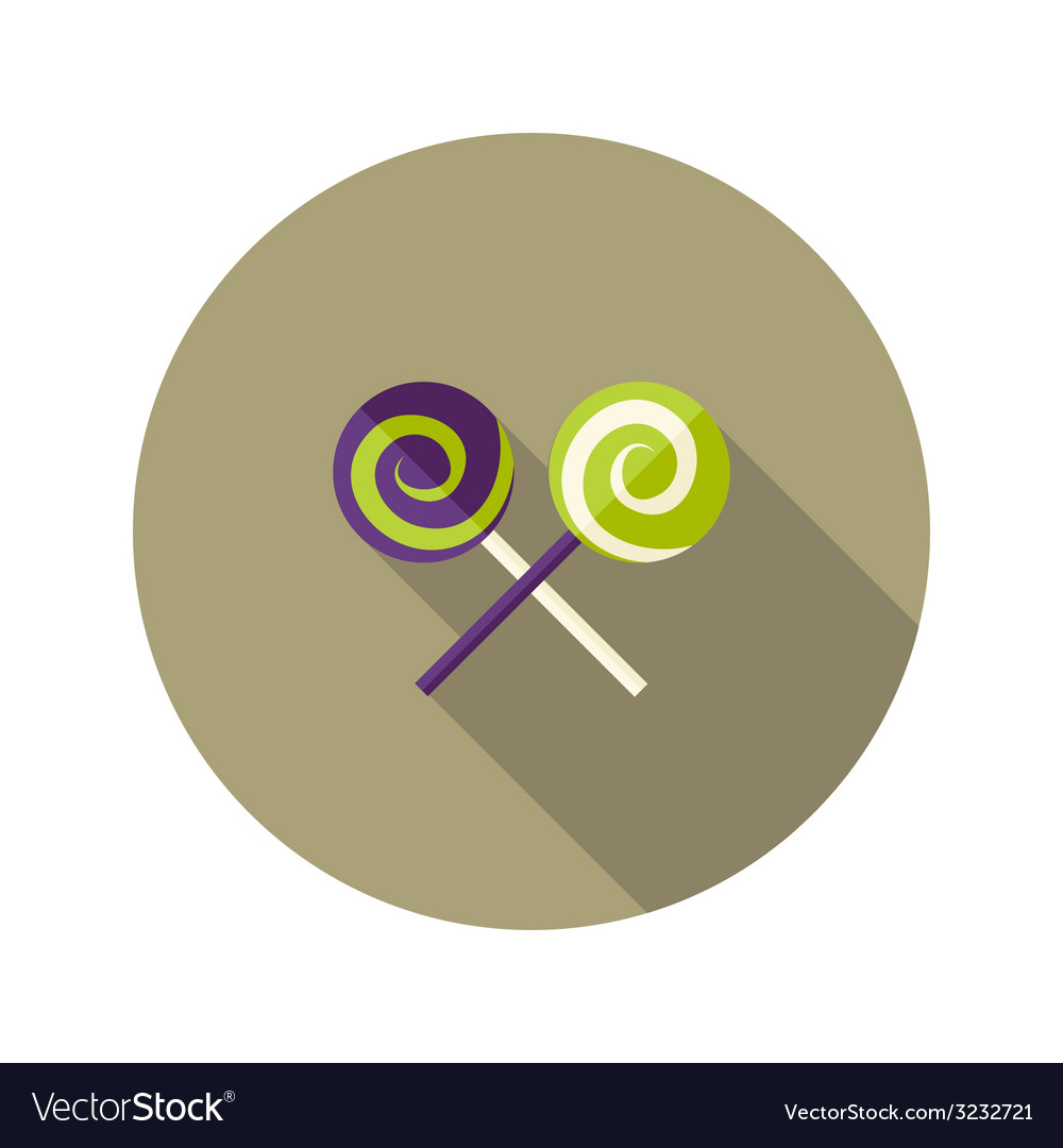 Christmas spiral candies stick flat icon vector | Price: 1 Credit (USD $1)