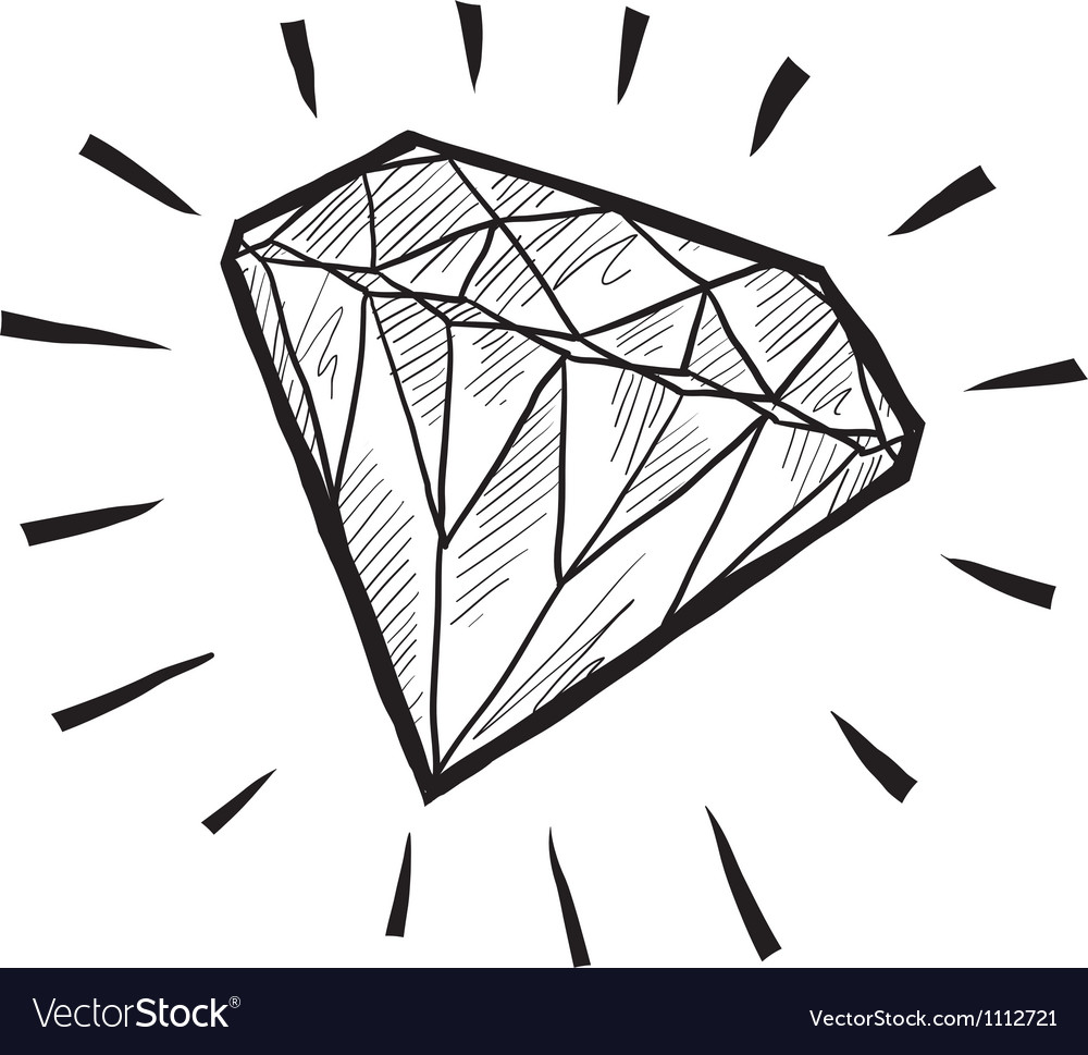 Doodle gem diamond luxury vector | Price: 1 Credit (USD $1)