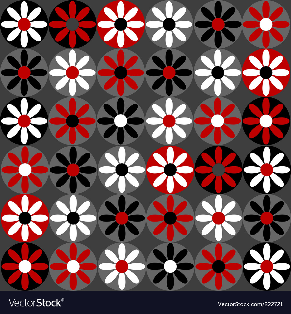 Floral daisy pattern vector | Price: 1 Credit (USD $1)