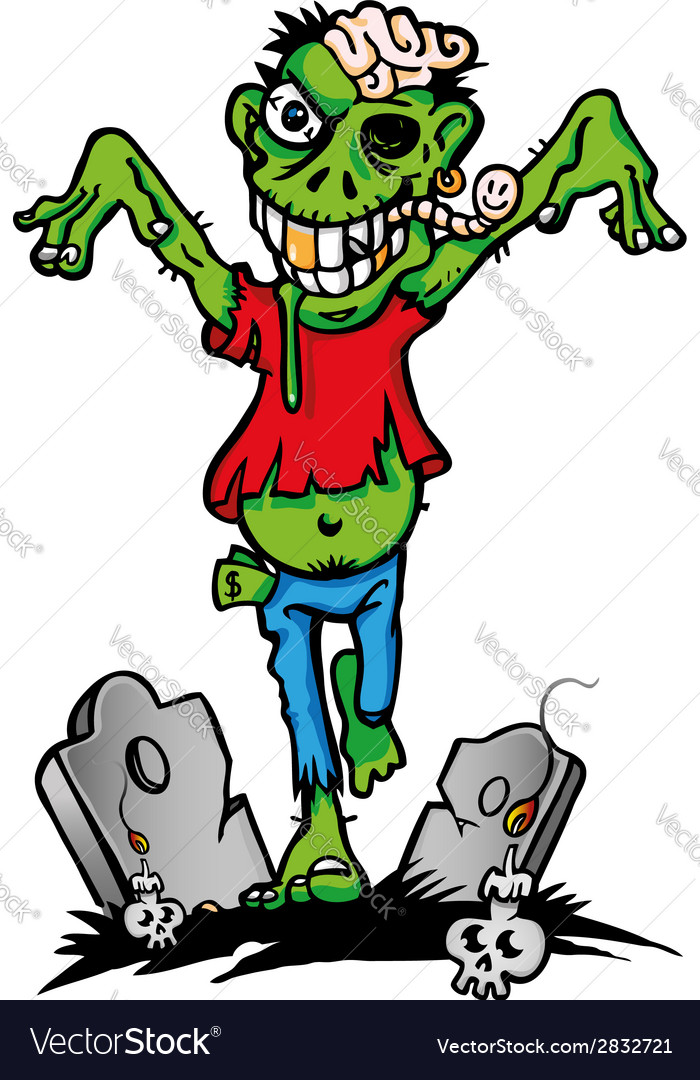 Green zombie vector | Price: 1 Credit (USD $1)