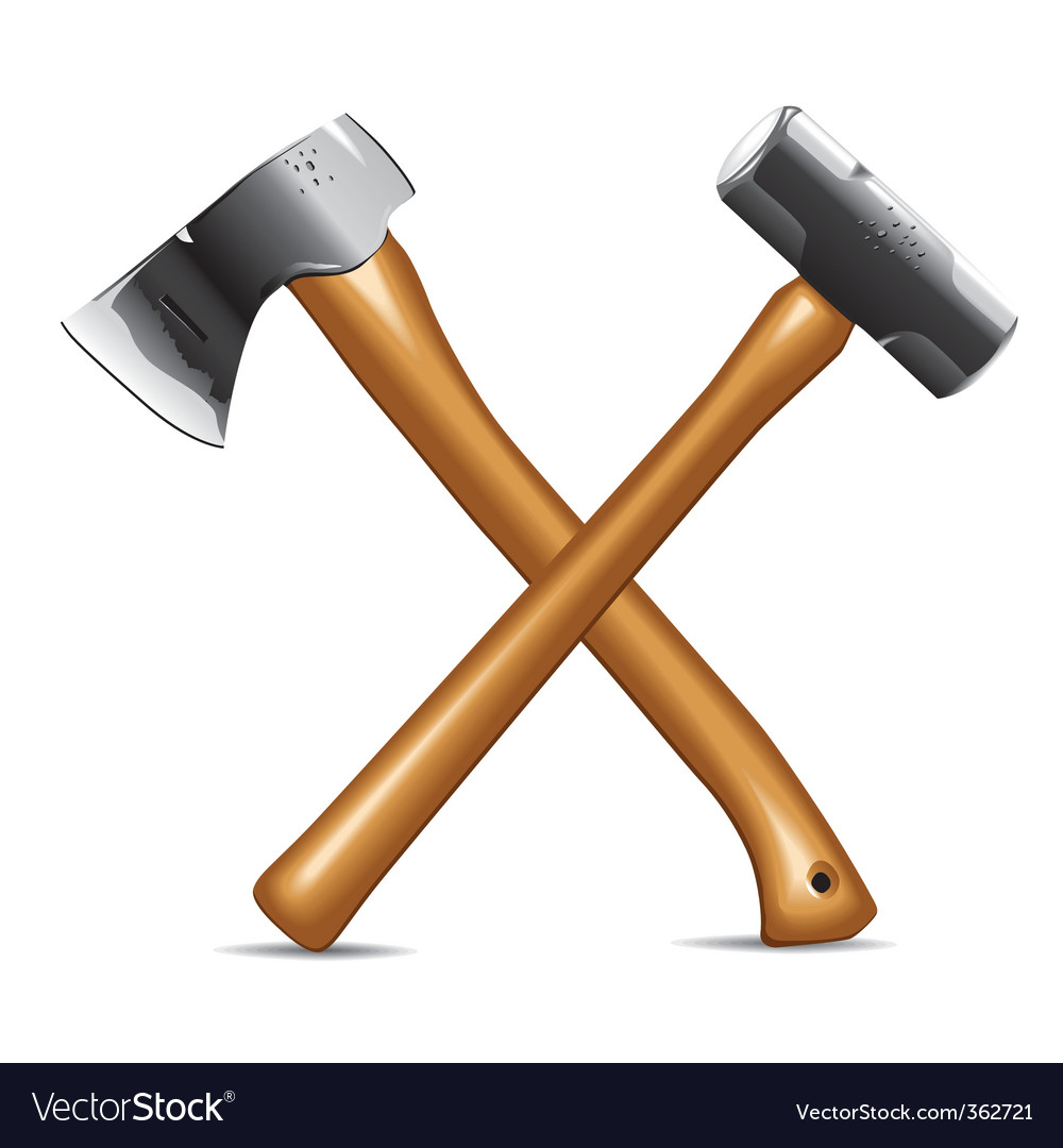 Hatchet and hammer vector | Price: 1 Credit (USD $1)