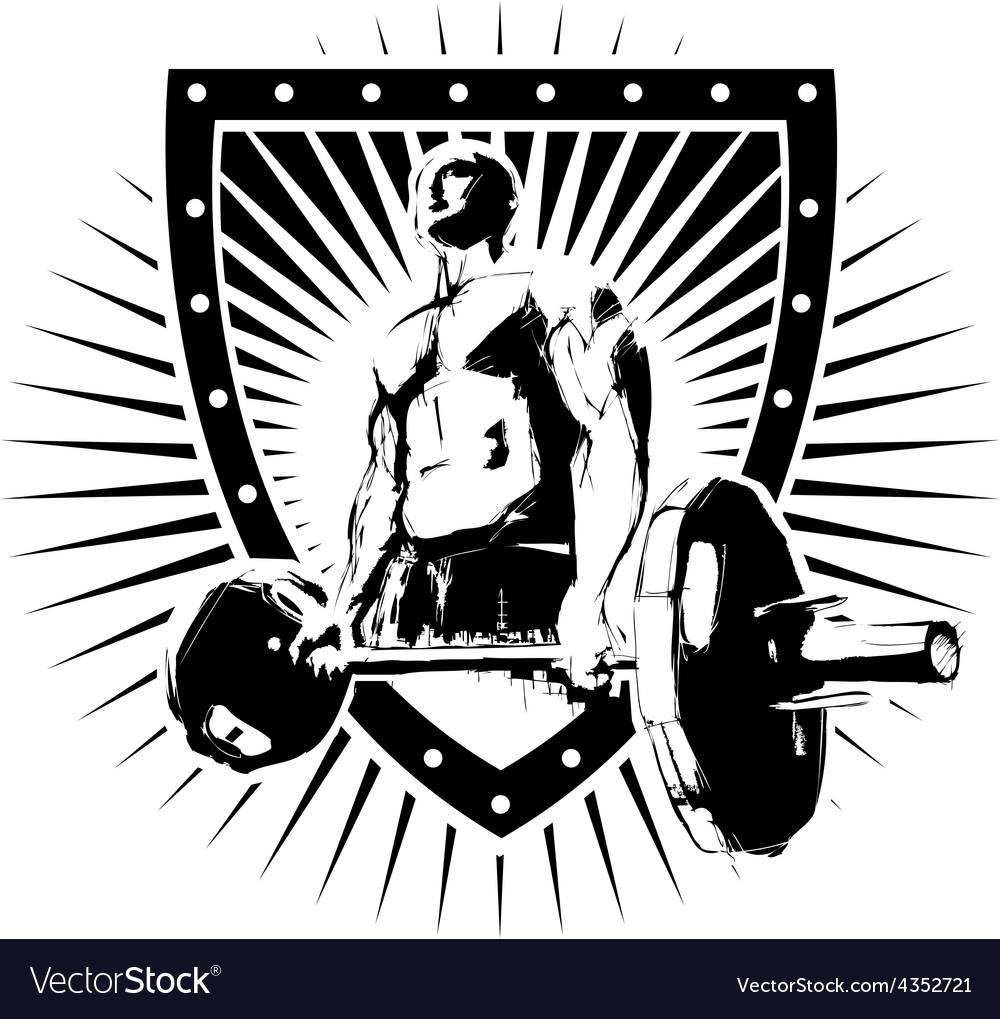 Igi bodybuilder shield vector | Price: 3 Credit (USD $3)