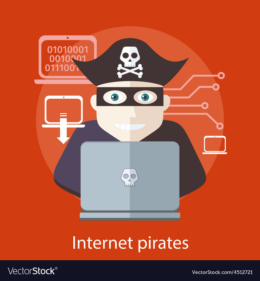 Internet pirates concept vector | Price: 1 Credit (USD $1)