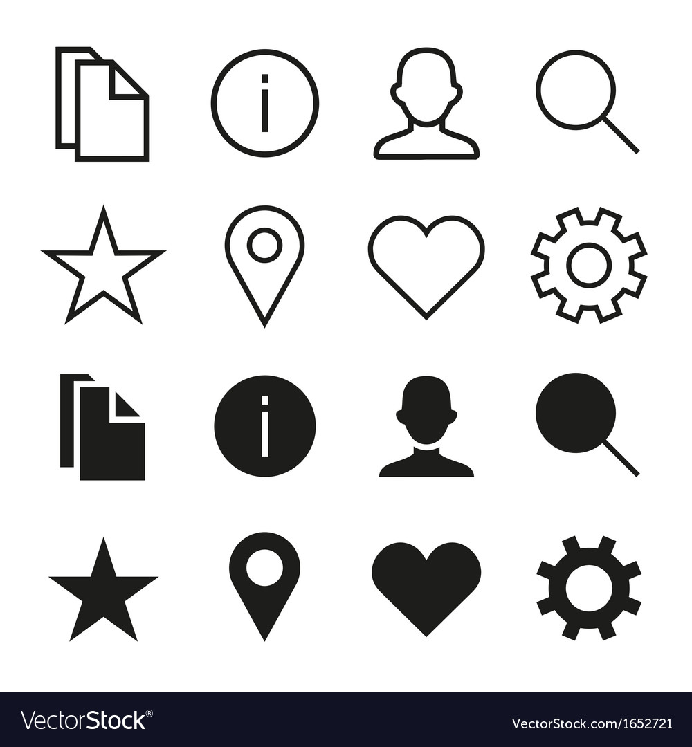 Ios 7 icons set vector | Price: 1 Credit (USD $1)