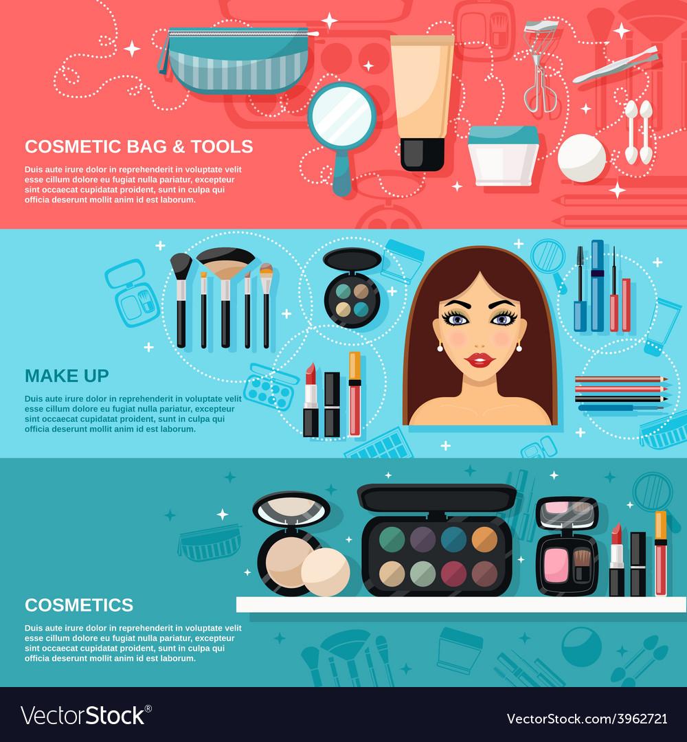 Makeup banner set vector | Price: 1 Credit (USD $1)