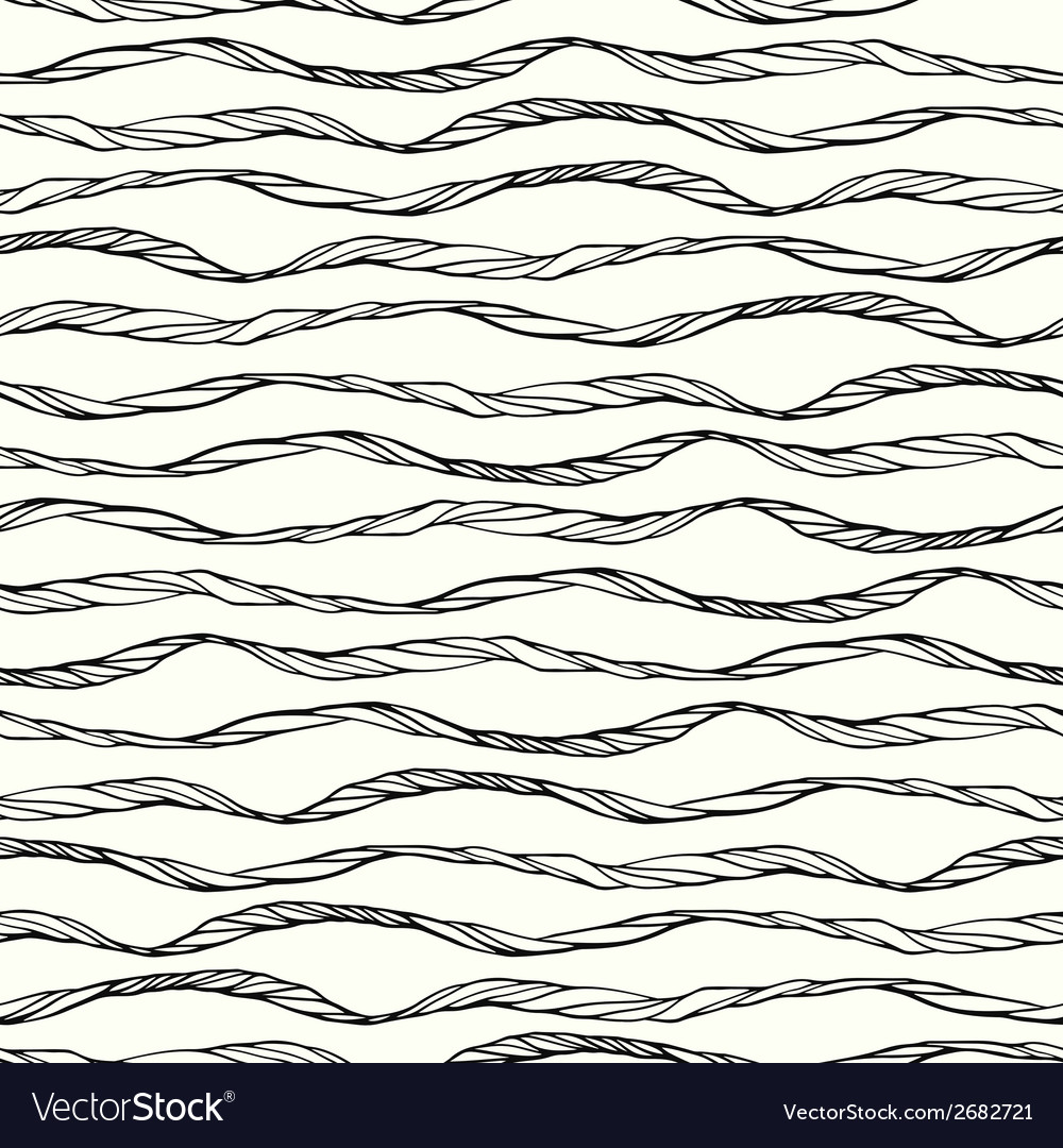 Seamless pattern with abstract doodle wavy vector | Price: 1 Credit (USD $1)